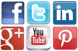 social media buttons square